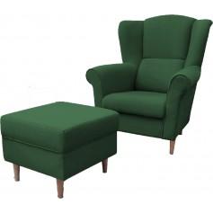 LOFT 1 - Sessel + Fußstütze